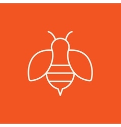 Bee line icon vector image