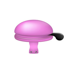 Bicycle bell in purple design vector