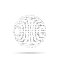 binary code texture globe vector image