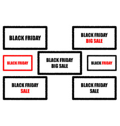 black friday - sale - big sale vector image
