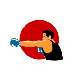 Boxer Retro vector