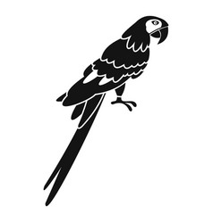 Brazilian parrot icon simple style vector