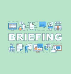 Briefing concept icon vector