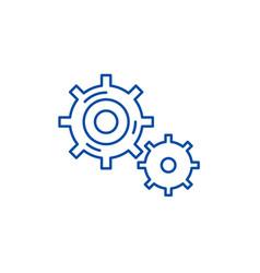 Business processes line icon concept business vector