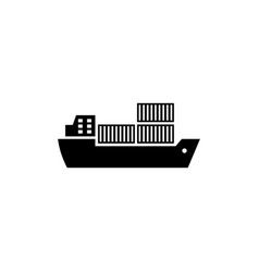cargo ship flat icon vector image
