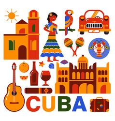 Cuba havana travel vector