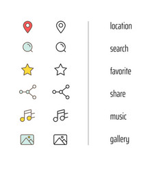 different web and mobile application icons clipart vector image