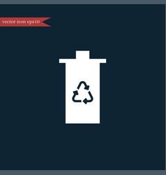 Eco trash icon simple vector