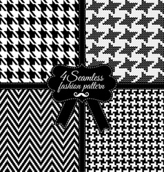 Fashion pattern Black and White vector
