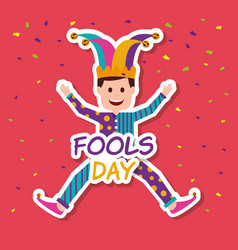 Fools day greeting card vector