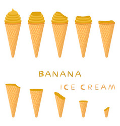 For natural ice cream vector