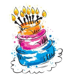funny cake vector image
