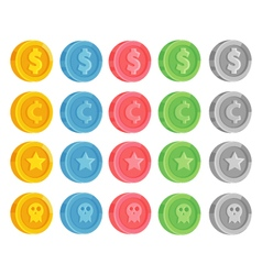 Game Coin Set vector image