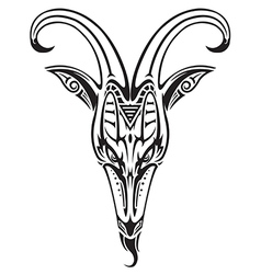 Goat head on white vector