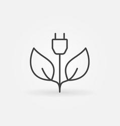 green energy concept icon vector image