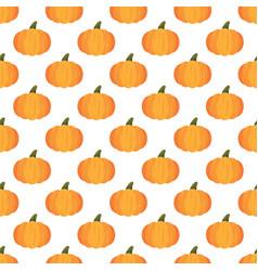 halloween pumpkin pattern on white background vector image