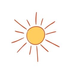 Hand-drawn sun vector image