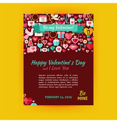 Happy Valentine Day Holiday Template Banner Flyer vector