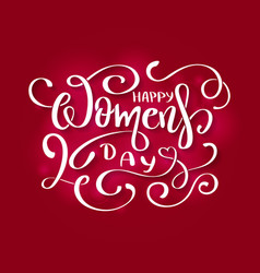 happy womens day card to 8 march vector image
