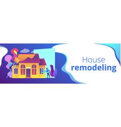 House renovation concept banner header vector