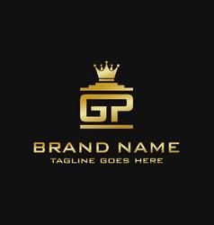 initial logo gp vector image