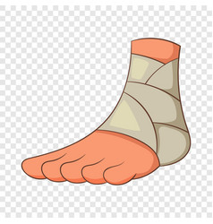 Injured ankle icon cartoon style vector