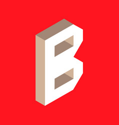 isometric letter b vector image