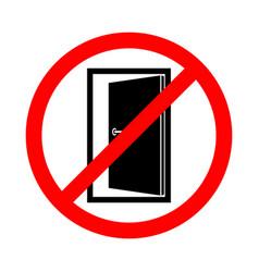 Keep door closed vector