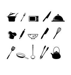 kitchen utensils icon vector image