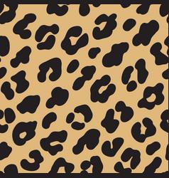 Leopard print brown black fur seamless pattern vector