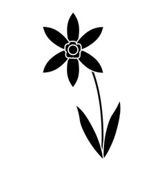 Lily petal natural style pictogram vector