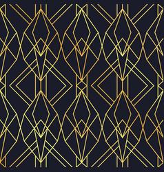 Luxury art deco gold black seamless pattern vector