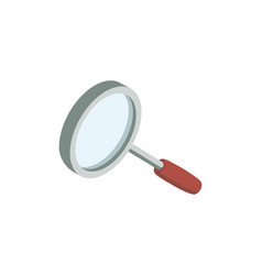 magnifying glass isolated isometric icon vector image