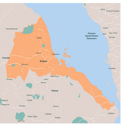 map eritrea isolated eps 10 vector image