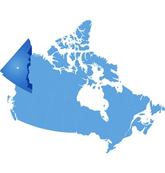 Map of Canada - Yukon Territory vector