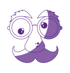 mask funny mustache vector image