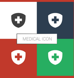 Medical icon white background vector