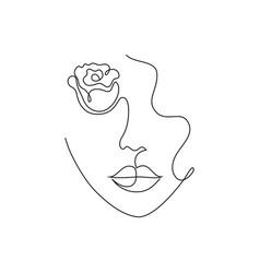 Minimal woman portrait vector