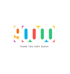 ninety thousand subscribers baner colorful logo vector image