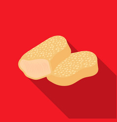 Nuggets icon in flat style for web vector