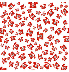 Old red phone seamless pattern vector