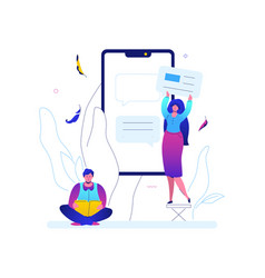Online chatting - flat design style colorful vector