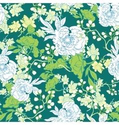 Oriental Green Garden Seamless Pattern vector