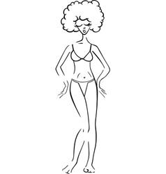pretty woman in bikini or swimsuit vector image
