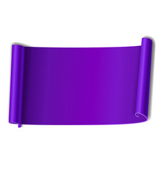 purple scroll isolated on white background violet vector image