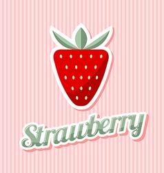 Retro strawberry vector image vector image