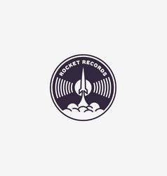 Rocket records logo vector