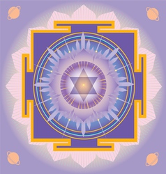 Sacred geometry saturn yantra vector