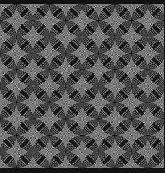 Seamless circles rings black white geometric vector