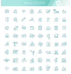 Set real estate related vector